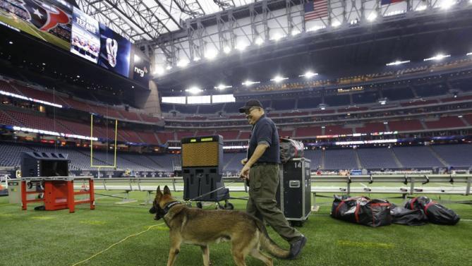 Bomb Detection K9 at NRG Stadium in Houston
